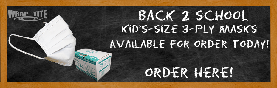 Kid's mask are available for order online at Wrap-Tite