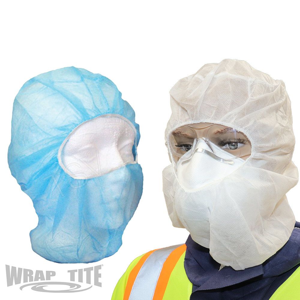 Disposable One Piece Hoods (Bouffant & Beard Cover All-In-One)