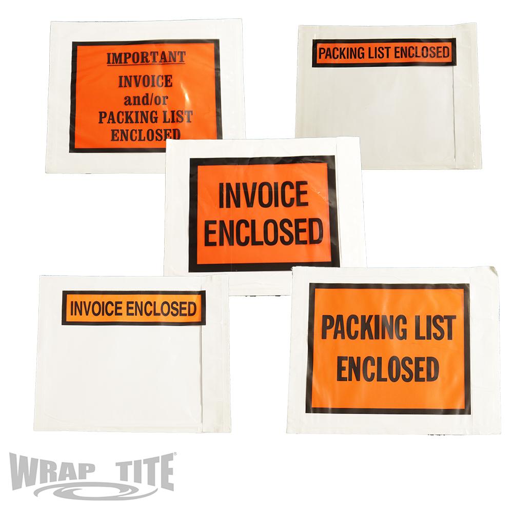 Printed Packing List Envelopes