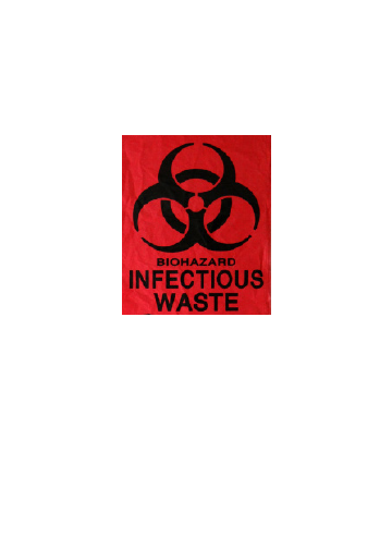 0.5 Mil HD Red Infectious Waste Liners